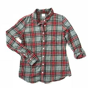 J.Crew Factory The Perfect Shirt Plaid Flannel Top